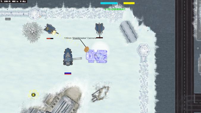 Frozen by turrets
